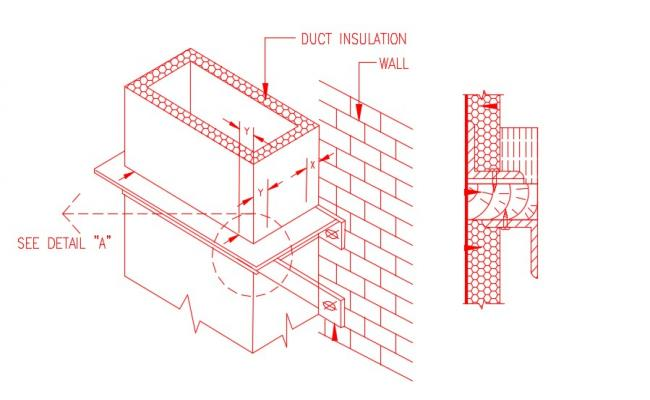 Duct Installation Design AutoCAD Drawing Download