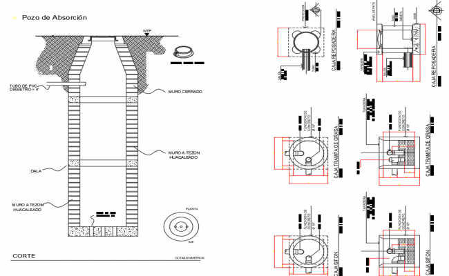 Ducting and plumbing details dwg file