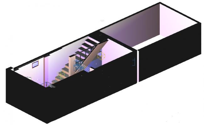 Duplex 3d view dwg file