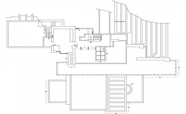 Duplex Bungalow Layout Plan Design CAD Drawing 2d View Free Download