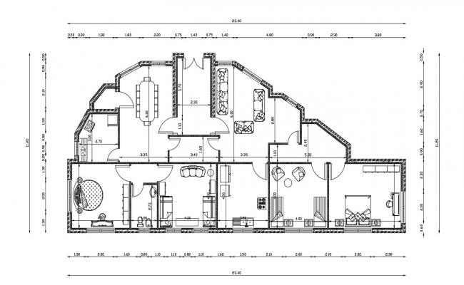 Duplex Home Design CAD file