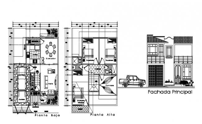 Duplex House Design In AutoCAD File