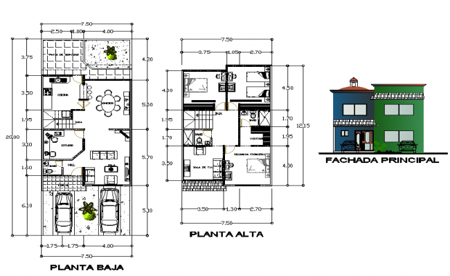 Duplex House Detail.