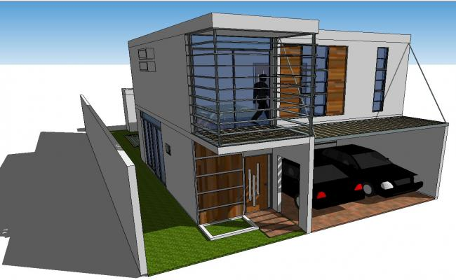 Duplex House SKP file