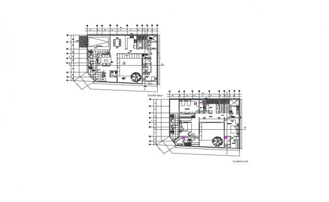 Duplex House Plans In DWG File