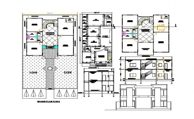 Duplex House interior detail