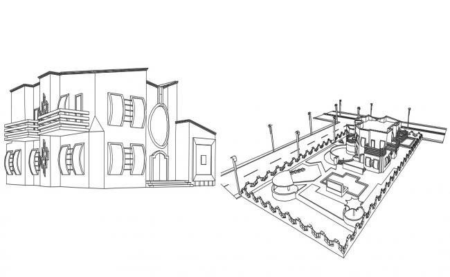 Duplex Villa Design 3d Model