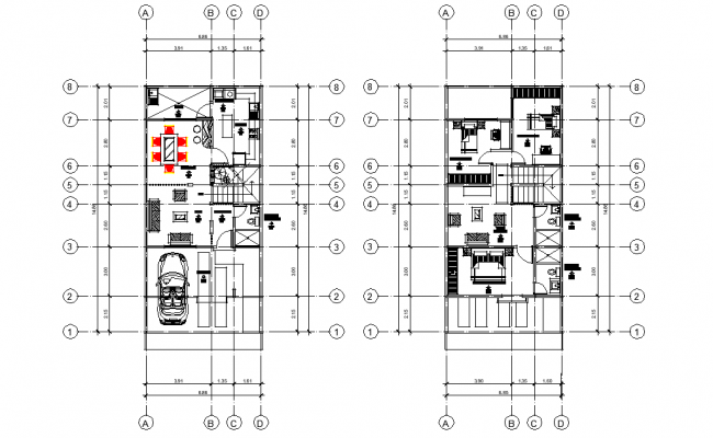 Duplex full project plan layout file