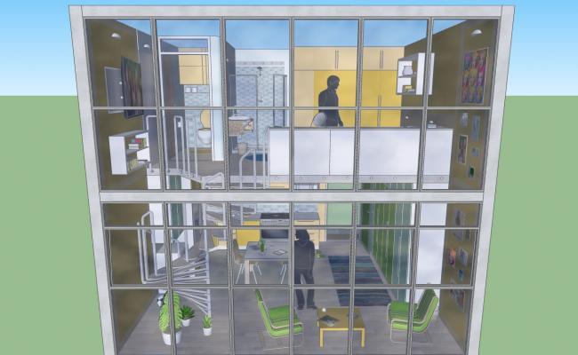 Duplex glassed House