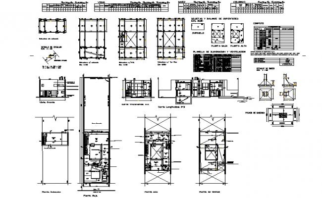 Duplex house plan detail dwg file