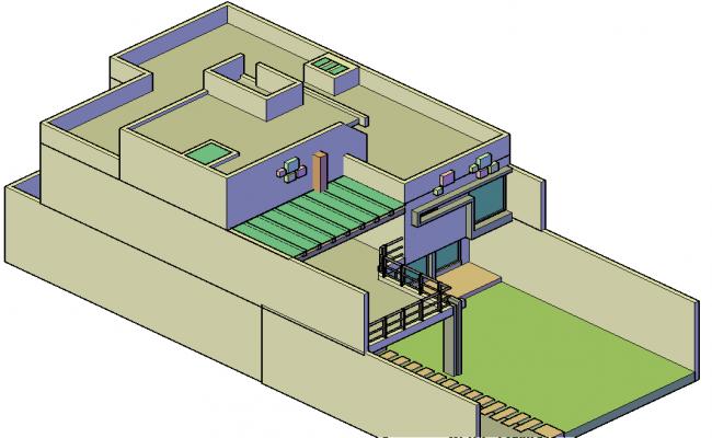 Duplex housing 3 d plan detail