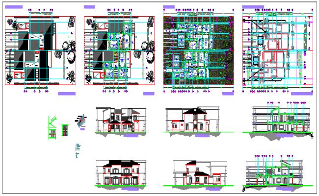 Duplex type house design drawing