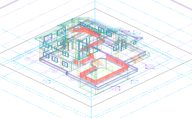 Duplex villa 3d dwg file