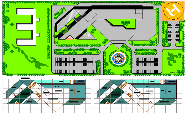 Dwarika City Hospital Architecture Project dwg file