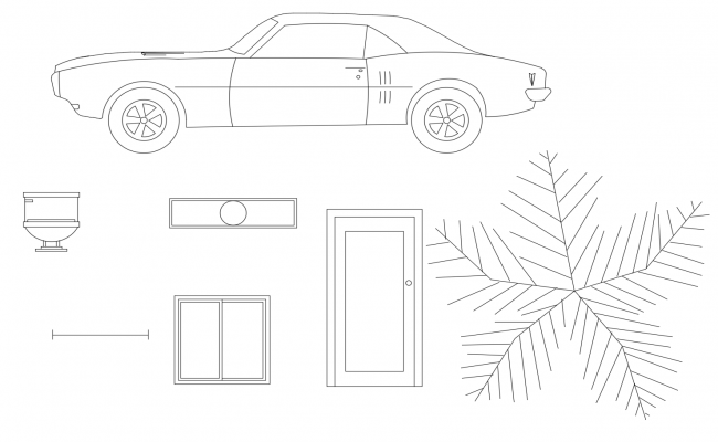 Dwg blocks of vehicles