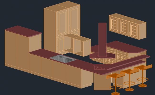 3d Furniture design in DWG file