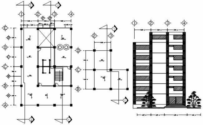 6 Storey Building Design In DWG File