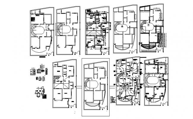 Bungalow Design Plan In DWG File