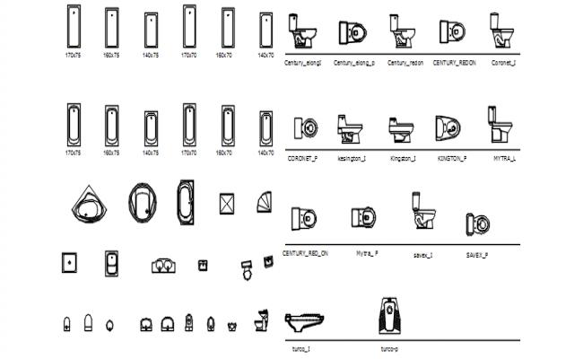 Dwg file of bathroom fixtures blocks