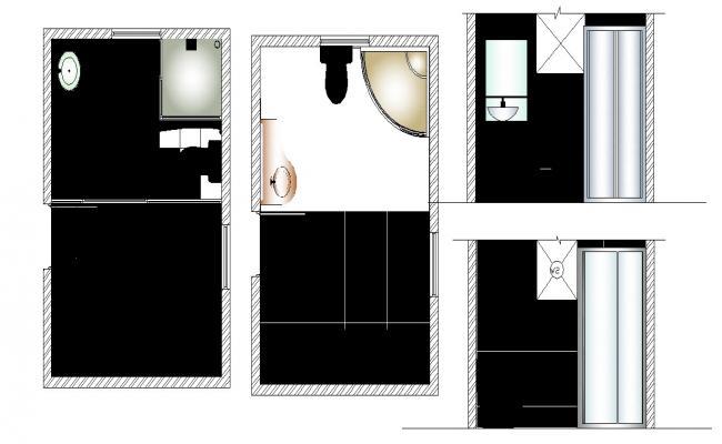 Bathroom Layout In DWG File