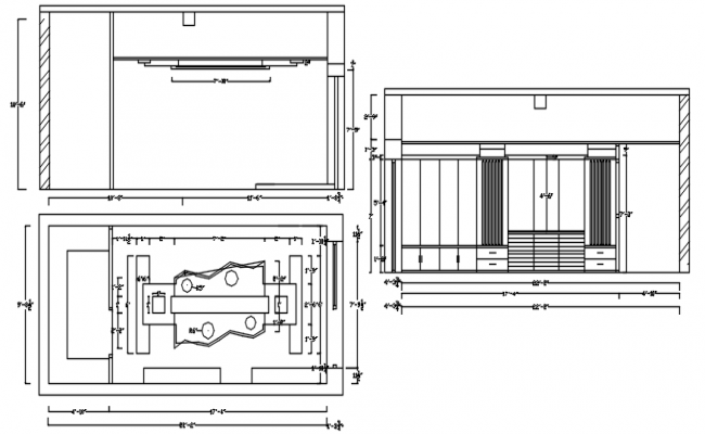 Cabin Furniture Plans AutoCAD Drawings