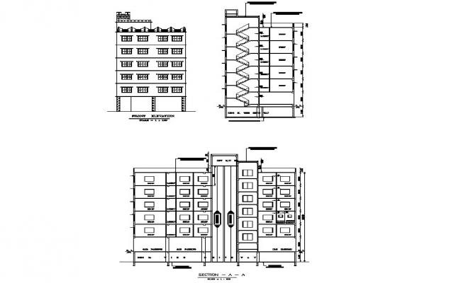 Dwg file of commercial building elevations