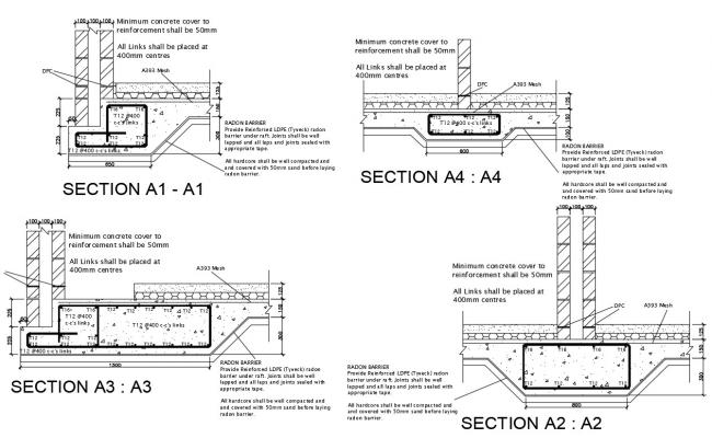 Dwg file of construction detail