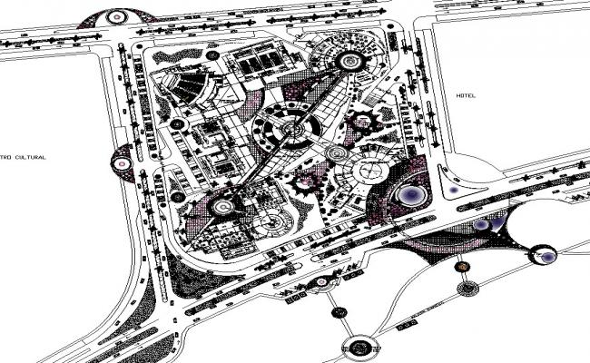 Dwg file of convention centre