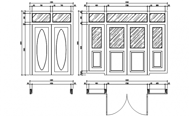 Dwg file of door detail