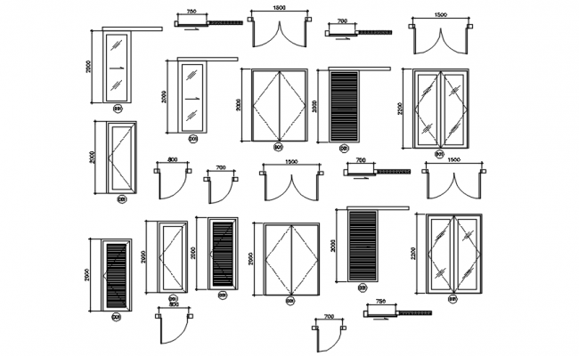 Dwg file of doors detail