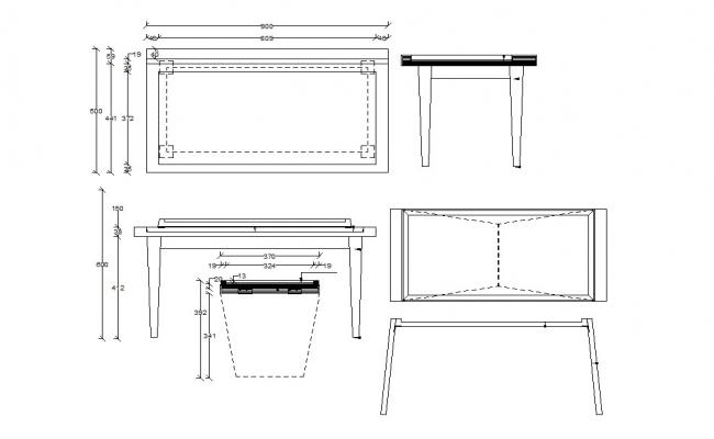 Dwg file of furniture detail
