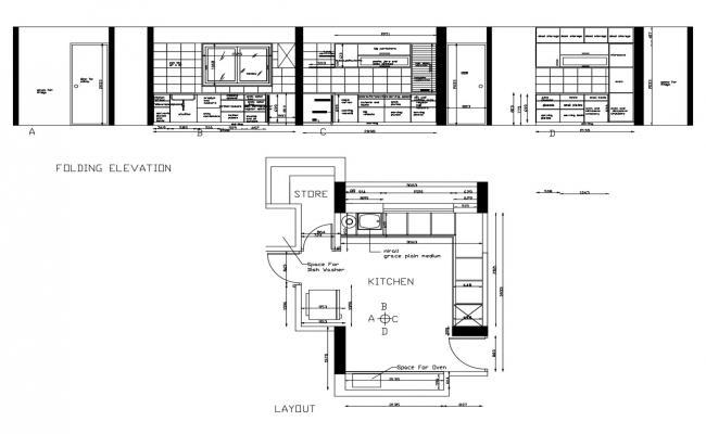 hospital kitchen layout plan dwg file  cadbull