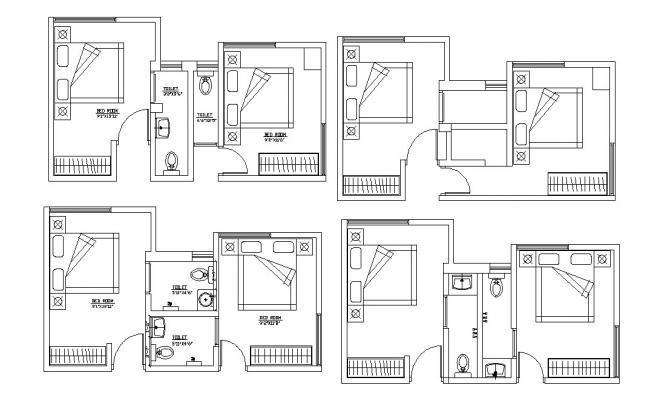 Master Bedroom Design In AutoCAD File