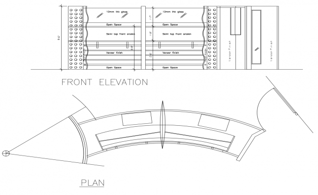Dwg file of reception table