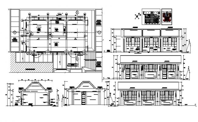 Dwg file of residential house with section