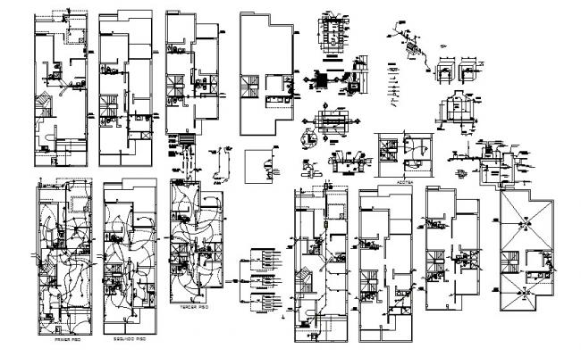 Dwg file of residential house with the electrical layout