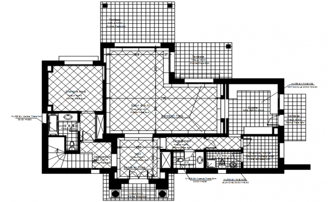 Dwg file of residential villa layout