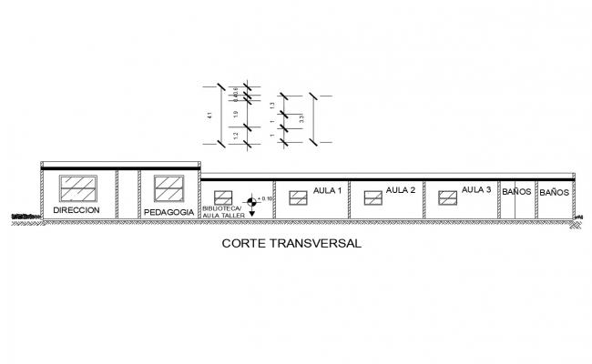 Dwg file of sectional elevation