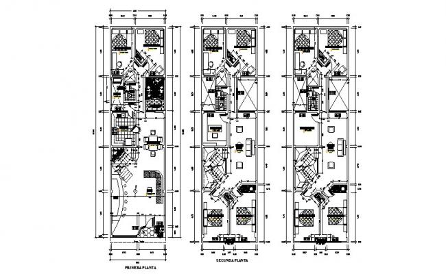 Bungalow Plan AutoCAD Drawings