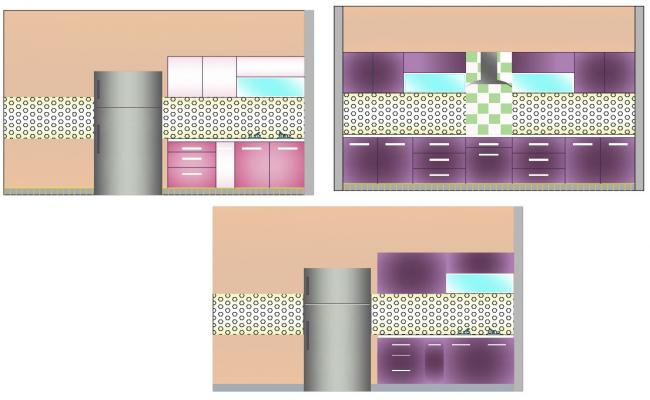 Simple Kitchen Designs In DWG File