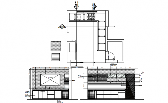 Kitchen Layout Plan In DWG File