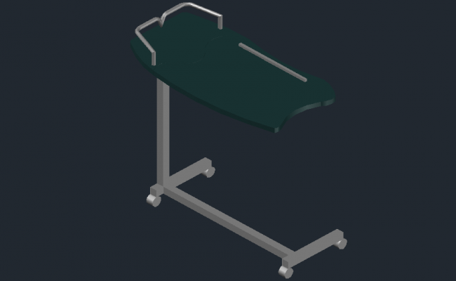 Dwg file of the sliding table of 3D