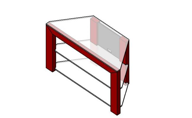 Dynamic 3d center table block cad drawing details dwg file