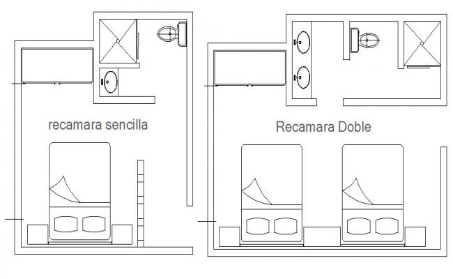 Dynamic bedroom plan and furniture layout plan cad drawing details dwg file