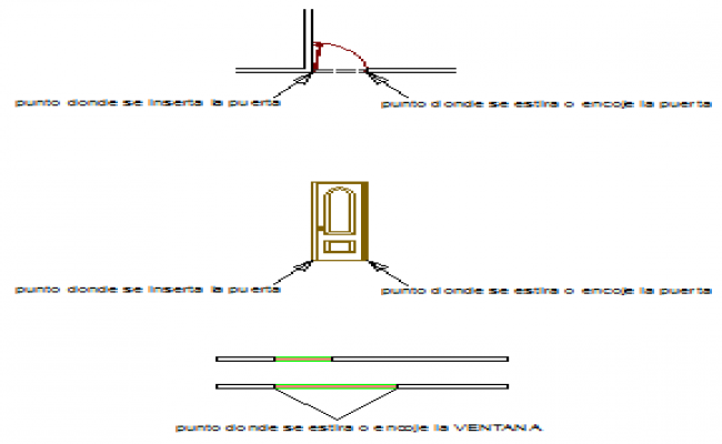 Dynamic block door and window design drawing