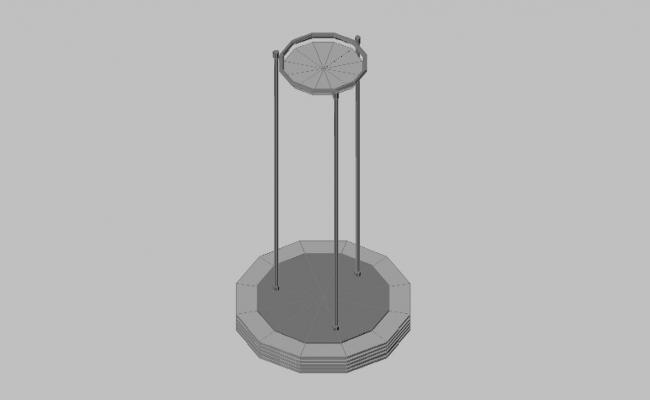 Dynamic lamp elevation 3d block details dwg file