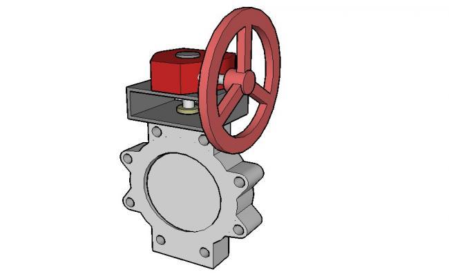 Dynamic manual wheel spring 3d block cad drawing details skp file