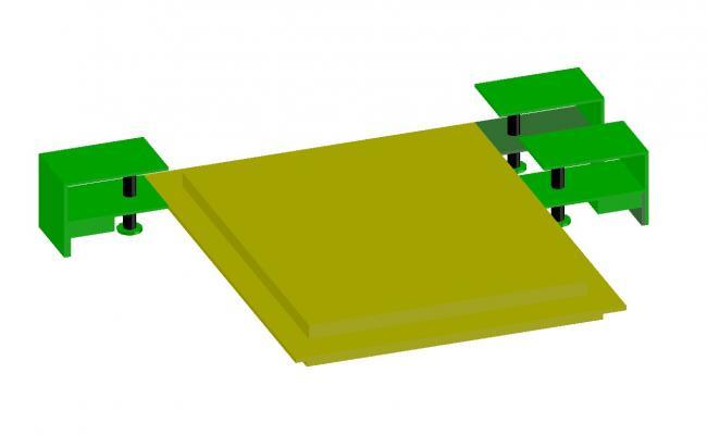 Dynamic master bed 3d elevation cad drawing details dwg file