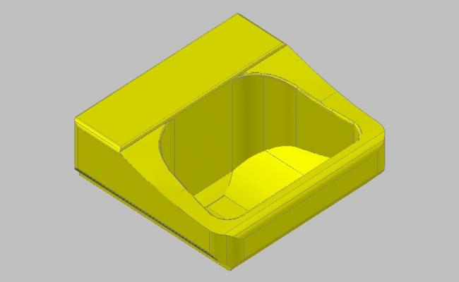Dynamic single 3d sink block cad drawing details skp file