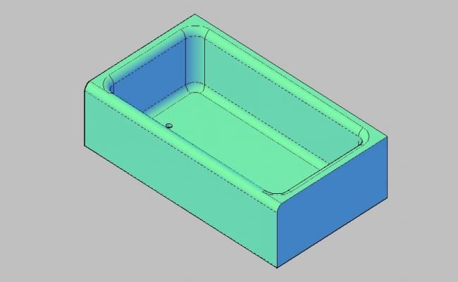 Dynamic sink elevation 3d block cad drawing details skp file